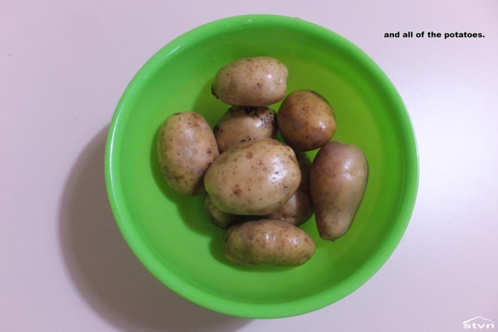 Potatoes grown on the Pomato.