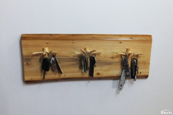 Christmas tree upcycled into a Key Hanger
