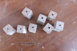 Drill pilot holes.