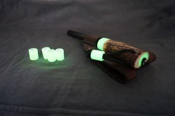 Giant Firesteel with Glow in the Dark Antler Handle and Leather Sheath