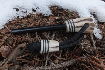 Ferro Rod with Decorated Antler Handle