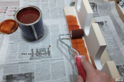 Stain, paint or varnish.