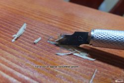 Carve out an approx. 5x5x20mm groove.