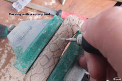 Carving with a rotary tool.
